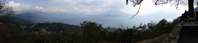 Looking down on Lake Atitlan