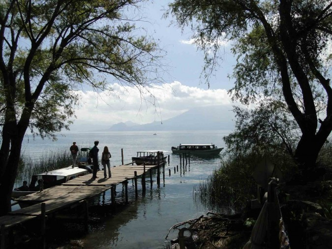 Boat launch in San Marcos, Lake Atitlan