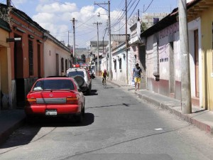 Narrow streets in Quetzaltenango