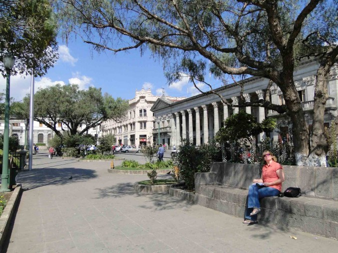 Central park in Quetzaltenango